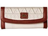 The Sak Iris Flap Wallet Stone Tribal Quilt Wallet Handbags Beige
