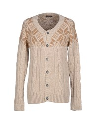 Black Flower Knitwear Cardigans Men Sand