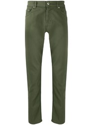 Dondup Low Rise Slim Fit Jeans Green