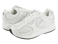 Drew Shoe Surge White White Perf Leather White Mesh Men's Lace Up Casual Shoes