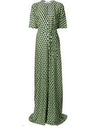 Tome 'Geometric Print Oversized' Jumpsuit Green