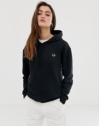 Fred Perry Taped Hooded Sweatshirt Black