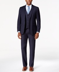 Kenneth Cole Reaction Navy Vested Pinstripe Slim Fit Suit 402Navy