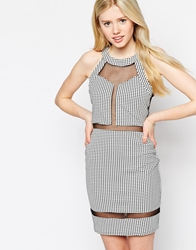 Max C London Max C Mesh Insert Dress Black