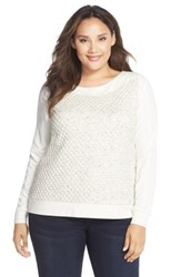 Tart Plus Size Women's 'Annette' Textured Sweatshirt