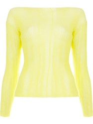 Aalto Dropped Shoulder Top Yellow