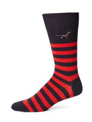 Barbour Macrath Striped Socks Navy