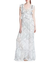 Plenty By Tracy Reese Tribal Maxi Dress White