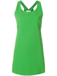 Capucci Bow Detail Mini Dress Green