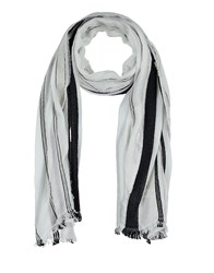 Diesel Oblong Scarves White