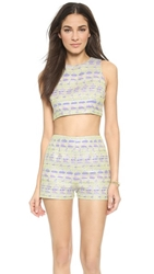 Zinke Leighton Crop Top Metallic Yelllow