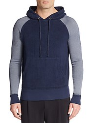 V Room Sherpa Accented Fleece Hoodie Navy