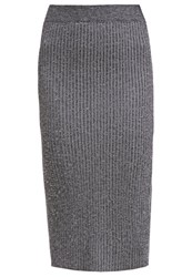 Maison Scotch Pencil Skirt Anthrazit Melange Anthracite