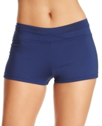 Jag Solid Boyshort Swim Bottom Women's Swimsuit Navy