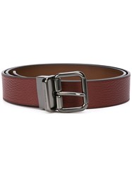 Coach Buckle Leather Belt Red