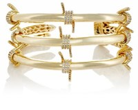 Fallon Women's Barbed Wire Triple Cuff Gold