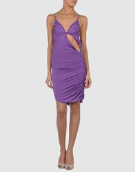 Parah Short Dresses Purple