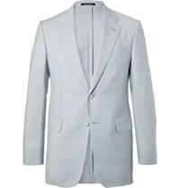 Dunhill Stone Mohair And Wool Blend Suit Jacket
