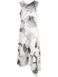 Josie Natori Crisscross Front Midi Dress White