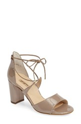 Paul Green Women's Nadia Ankle Strap Sandal Taupe Patent