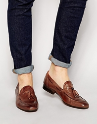 H By Hudson Pierre Leather Loafers Brown