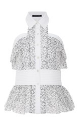 Marissa Webb Elias Lace Sleeveless Top White
