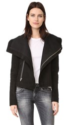 Veda Max Suede Jacket Black