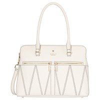 Modalu Pippa Classic Leather Patterned Grab Bag White Croc