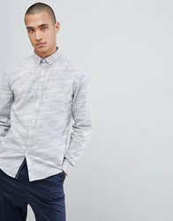 Lindbergh Space Dyed Shirt In White Blue