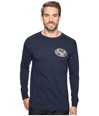 O'neill Backyard Long Sleeve Screen Tee Imprint Navy Men's T Shirt