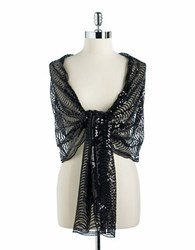 Cejon Mesh And Sequin Scarf Black