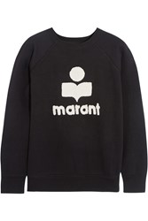 Etoile Isabel Marant Cody Terry Embroidered Cotton Blend Jersey Sweatshirt