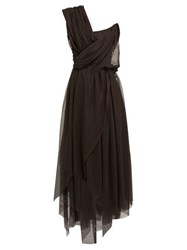 Vivienne Westwood Storm In A Teacup Gathered Cotton Tulle Dress Black Multi