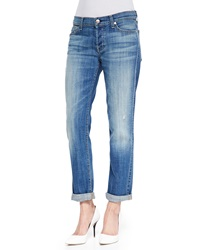 7 For All Mankind Josefina Slim Boyfriend Jeans Bright Light Broken Twill