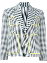 Dsquared2 Gingham Check Blazer Black