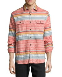 Faherty Durango Blanket Print Cpo Jacket Multi