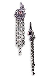 Ashley Williams Away Fall Crystal Earrings Lilac Pink Clear