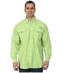 Columbia Bahama Ii Long Sleeve Shirt Tall Jade Lime Men's Long Sleeve Button Up Green