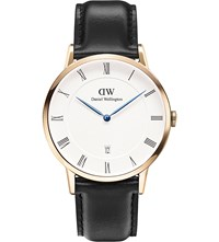 Daniel Wellington 1101Dw Dapper Sheffield Rose Gold Plated And Leather Watch White