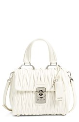 Miu Miu Small Matelasse Leather Satchel