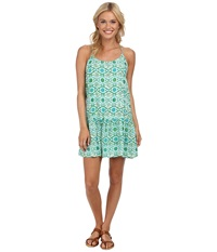 Roxy Like It's Hot Dress Bright Moss Eye Batik Women's Dress Green