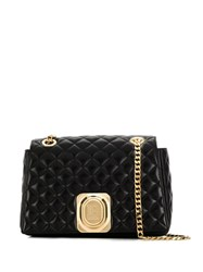 Balmain Quilted Leather Cross Body Bag Black