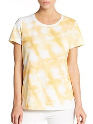 Lafayette 148 New York Tie Dye Print Tee Golden Rod