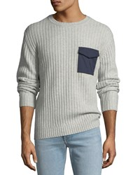 Ag Adriano Goldschmied Delta Woven Pocket Sweater Gray