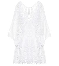 Anna Kosturova Chloe Crochet Cotton Minidress White