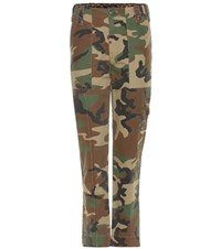 Marc Jacobs High Rise Cotton Trousers Multicoloured