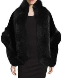 La Fiorentina Mink And Fox Fur Topper Jacket Black