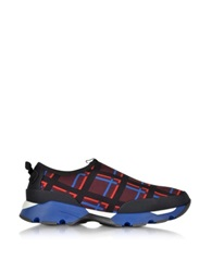 Variation On Marni's Sneaker In Checkered Fabric Multicolor
