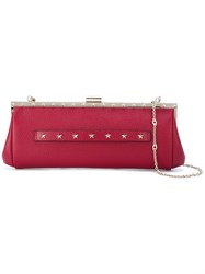 Red Valentino Stars Studded Clutch Red