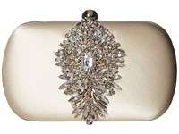 Badgley Mischka Aurora Ivory Clutch Handbags White